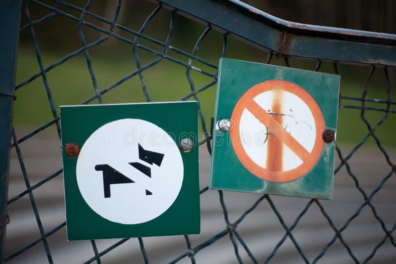 De honden worden niet toegestaan stock foto
