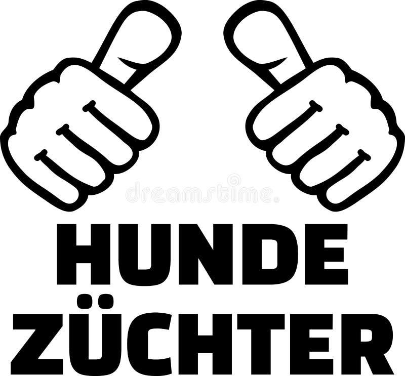 Download De Hondkweker Beduimelt Het Duits Vector Illustratie - Illustratie bestaande uit embleem, binnenlands: 114227767