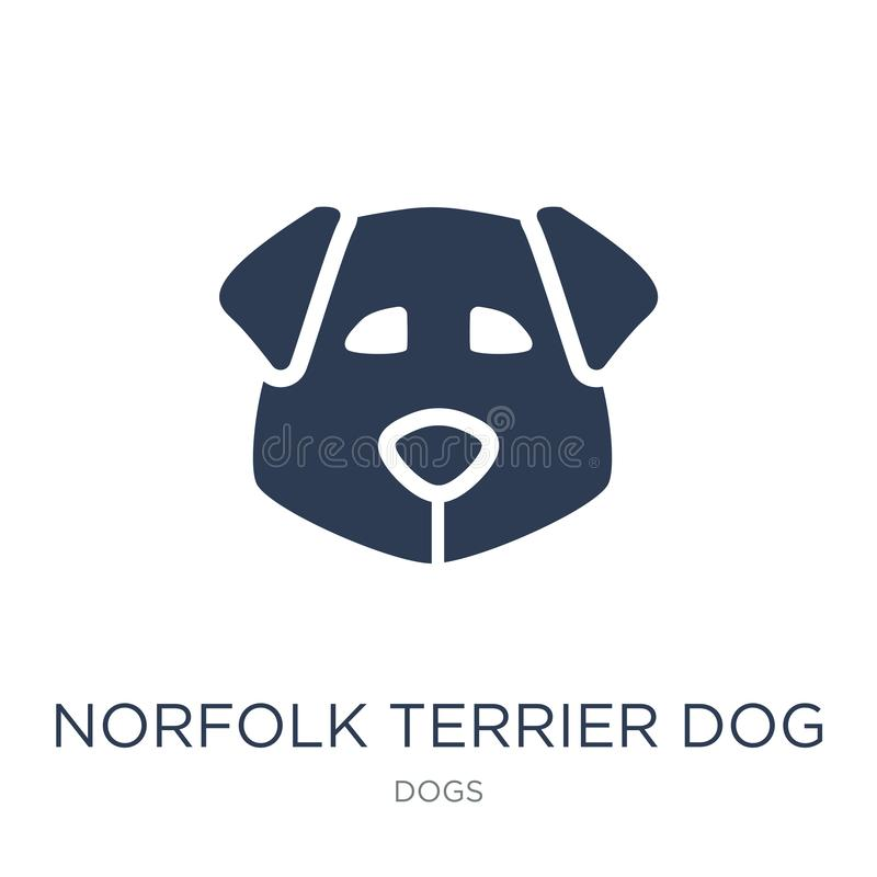 De hondpictogram van Norfolk Terrier De in vlakke vectorhond van Norfolk Terrier vector illustratie
