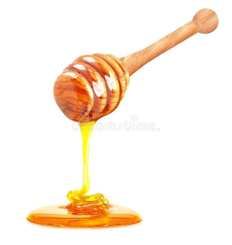 De honing isoleerde wit stock fotografie