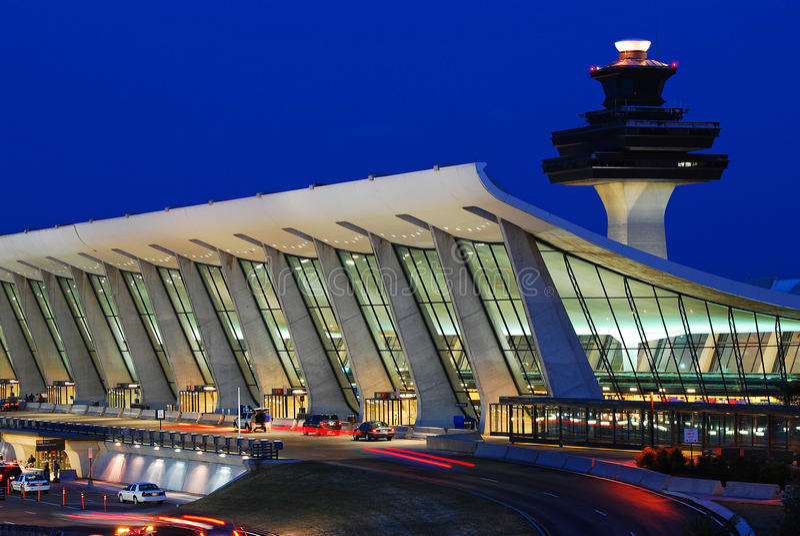 De hoofd Eindbouw van Dulles Internationale Luchthaven royalty-vrije stock fotografie
