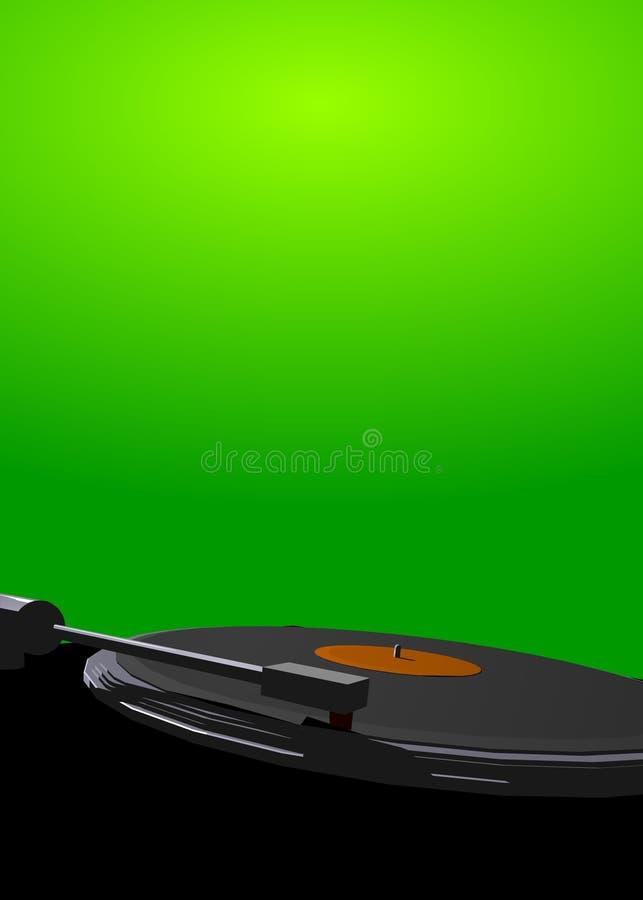 De hoofd groene affiche van de mengeling royalty-vrije illustratie