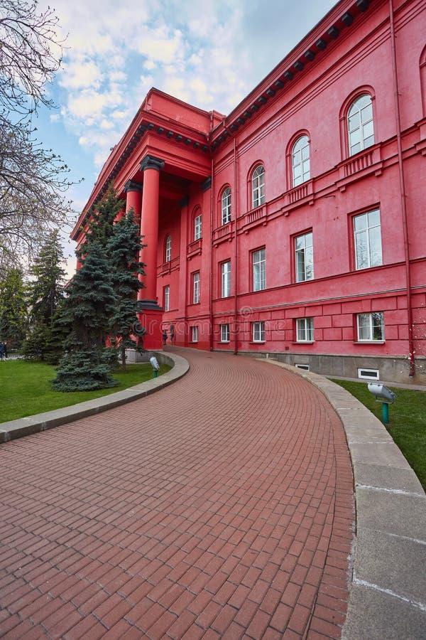 De hoofd historische bouw van Nationale Universiteit van Kiev royalty-vrije stock foto's