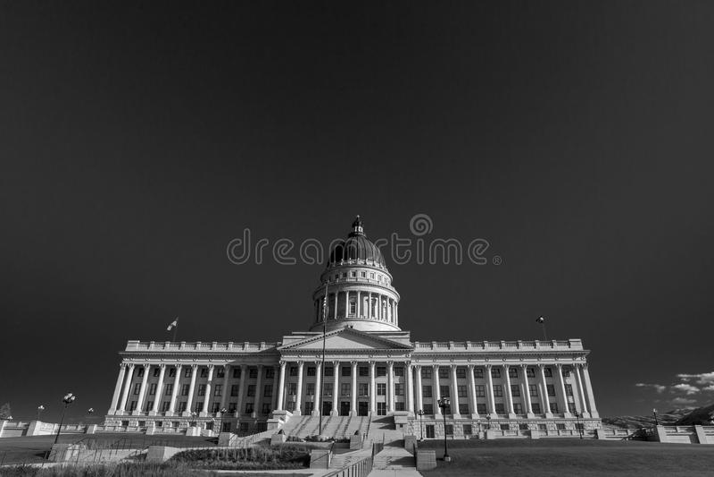 De Hoofd Zwart-witte Bouw van Utah, Salt Lake City royalty-vrije stock fotografie