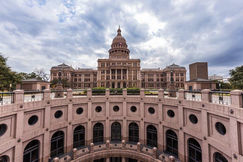 De hoofdbouw van de staat van Texas in bewolkte dag, Austin royalty-vrije stock fotografie