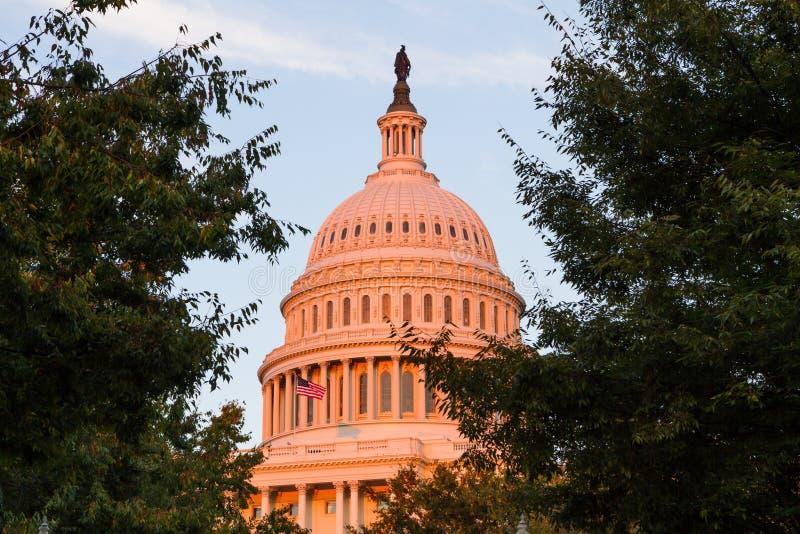 De Hoofdbouw van de V.S. in Washington DC, de V.S. royalty-vrije stock afbeeldingen