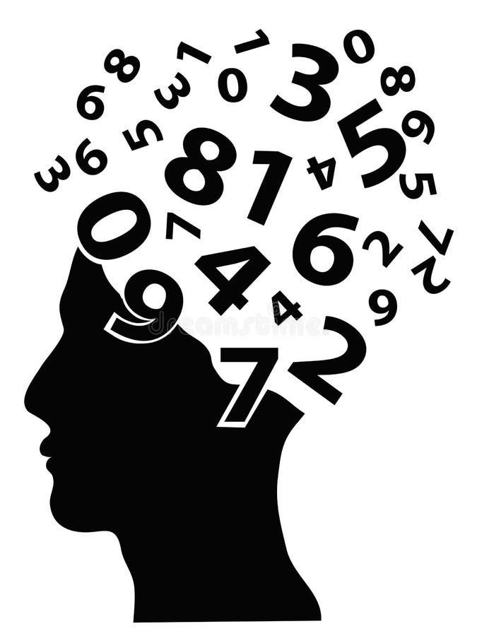 De hoofden van aantallen stock illustratie