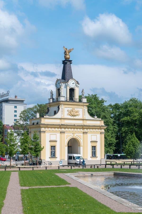De hoofdingang van het Branicki-paleis stock afbeelding