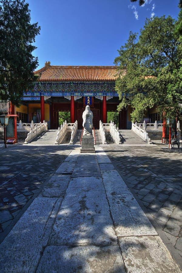 De Hoofdingang van de Tempelpeking van Confucius royalty-vrije stock afbeelding