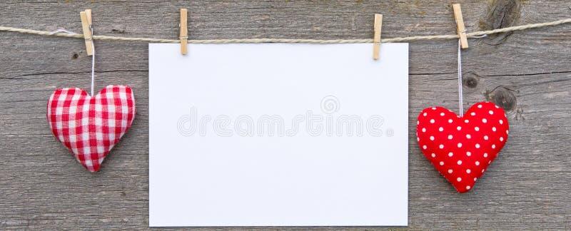 De hoofdkussens lege affiche van het hart stock afbeeldingen