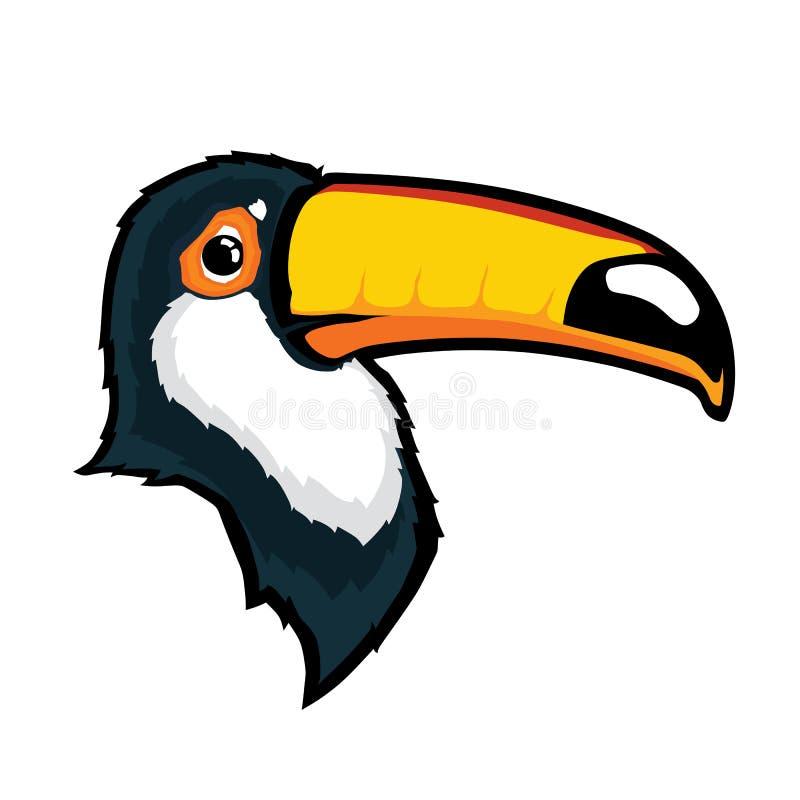 De hoofdmascotte van de toekanvogel stock illustratie