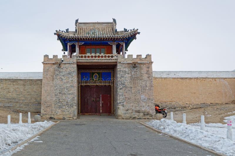 De hoofdpoort van het klooster Erdene Zuu royalty-vrije stock afbeeldingen