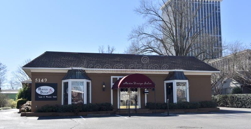 De hoofdsalon van het Ontwerphaar, Memphis, TN stock foto
