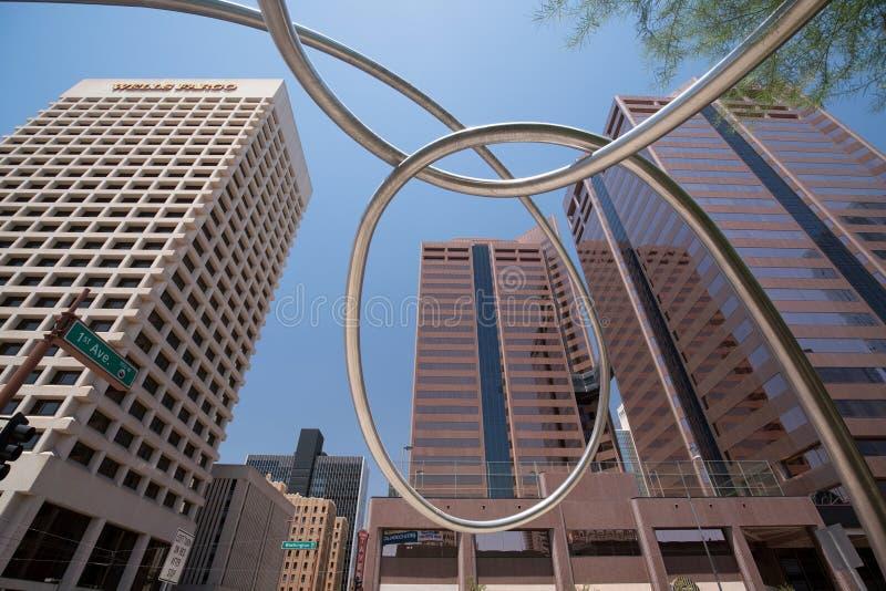 De hoofdstad van de binnenstad van Phoenix, Arizona stock afbeelding