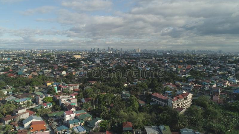 De hoofdstad van de Filippijnen is Manilla stock fotografie