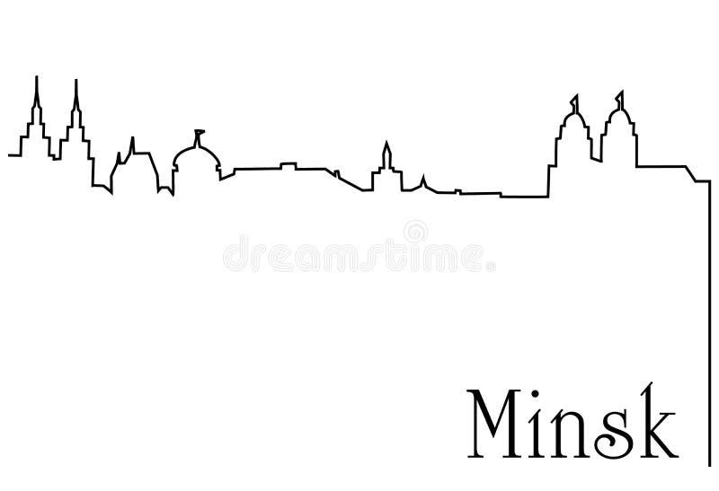 De hoofdstad van Minsk stock illustratie