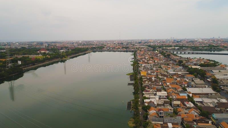 De hoofdstad van Oost- Surabaya Java, Indonesië royalty-vrije stock foto