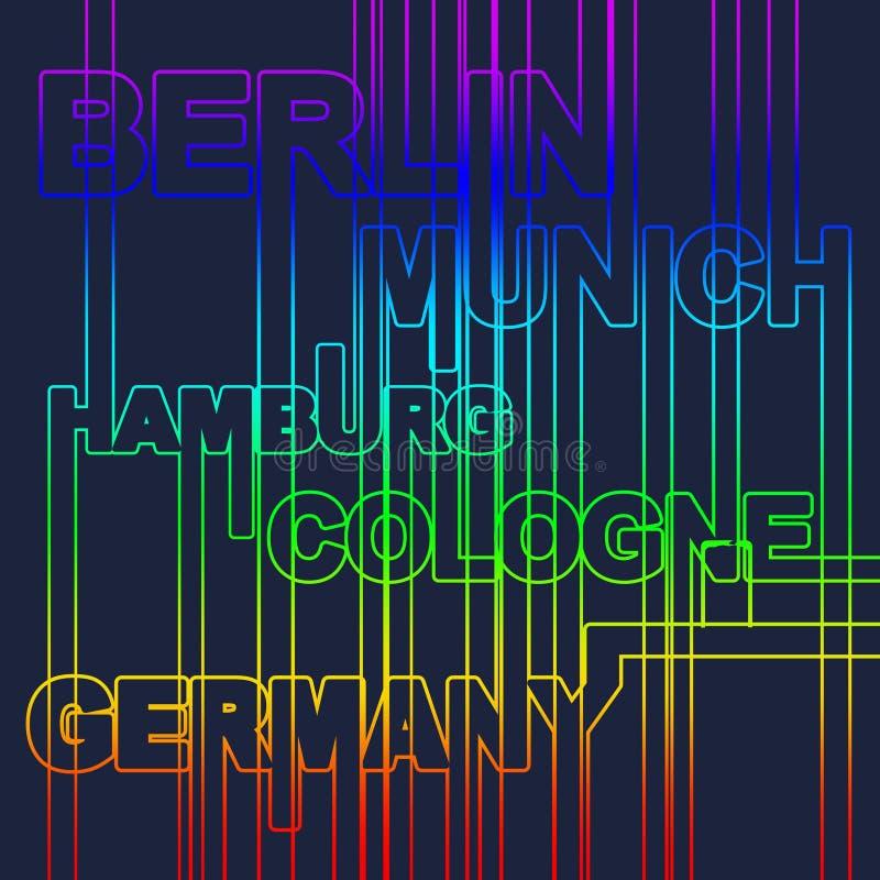 De hoofdsteden van Duitsland royalty-vrije illustratie