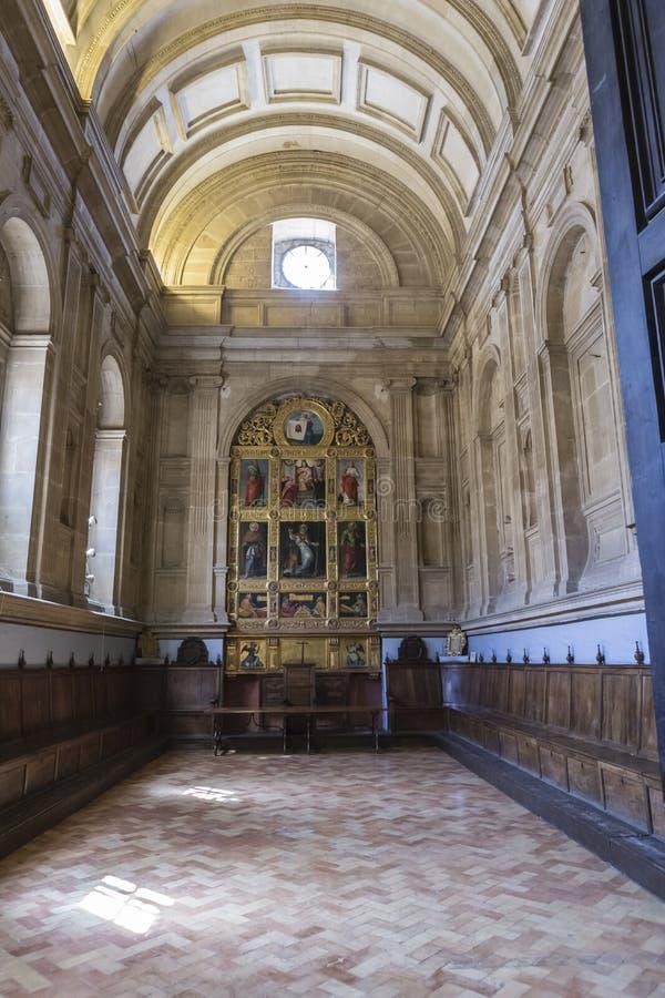 De hoofdstukzaal, ook genoemd Kapel van San Pedro de Osma, is st stock afbeelding