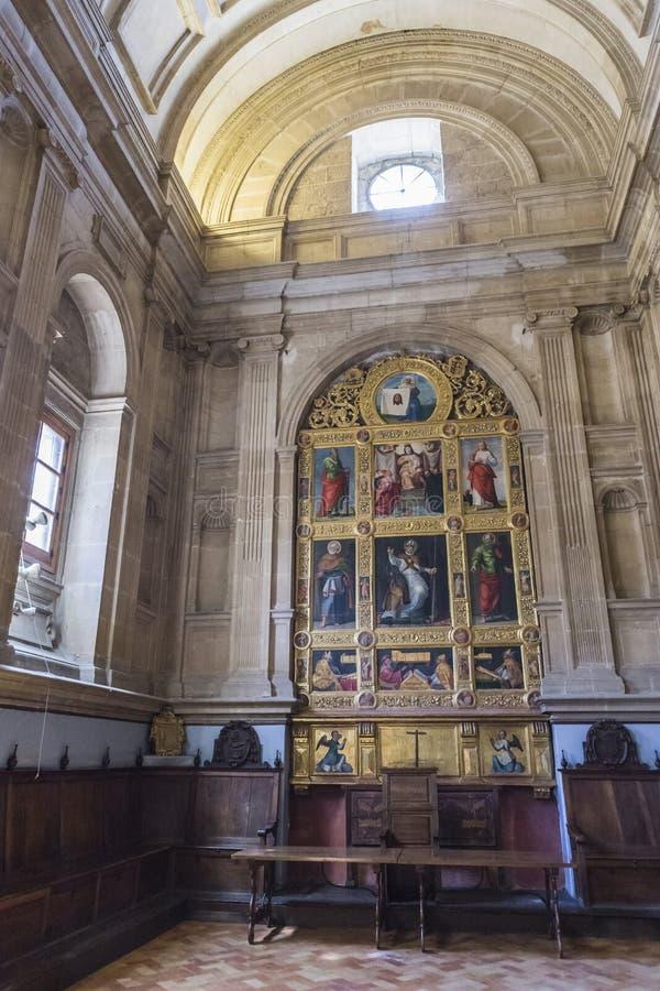 De hoofdstukzaal, ook genoemd Kapel van San Pedro de Osma, is st royalty-vrije stock foto