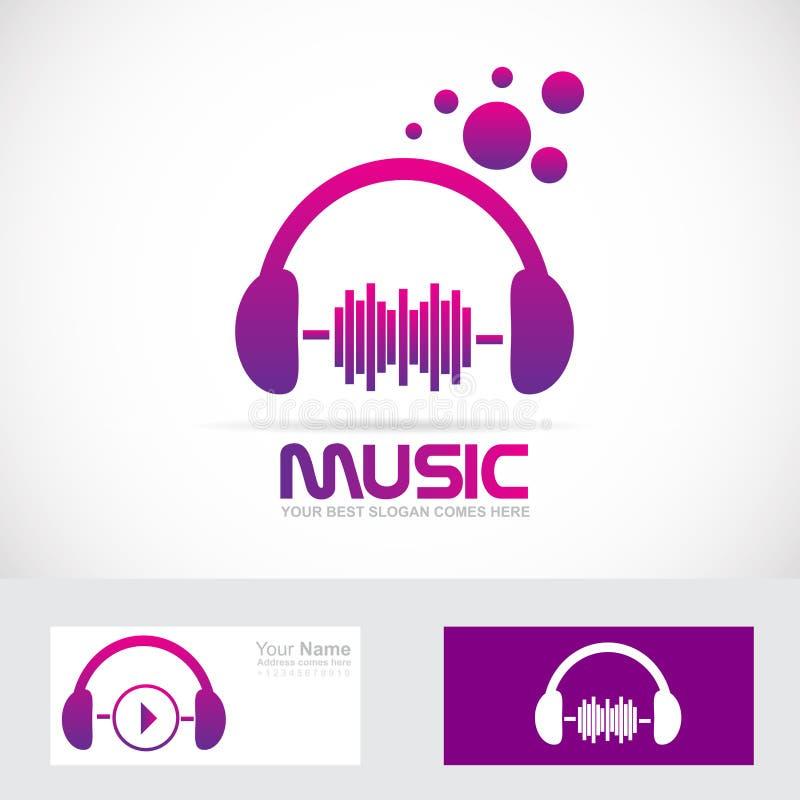 De hoofdtelefoonembleem van het muziekvolume vector illustratie