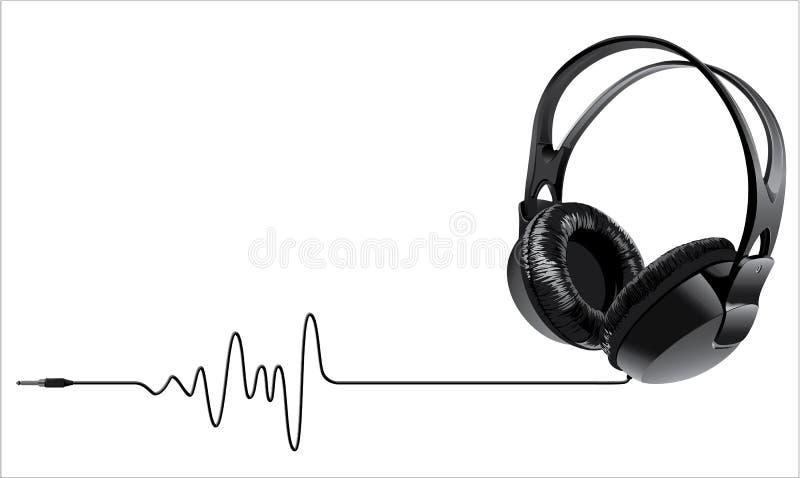 De hoofdtelefoons van de muziek