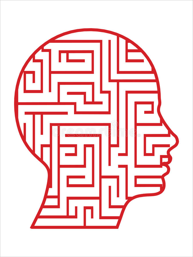 De hoofdvector van het labyrint stock illustratie