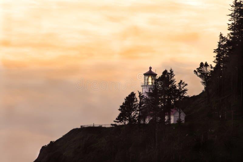 De HoofdVuurtoren van Heceta stock afbeelding