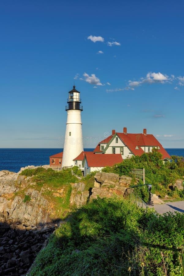De HoofdVuurtoren van Portland, Maine, de V stock foto's