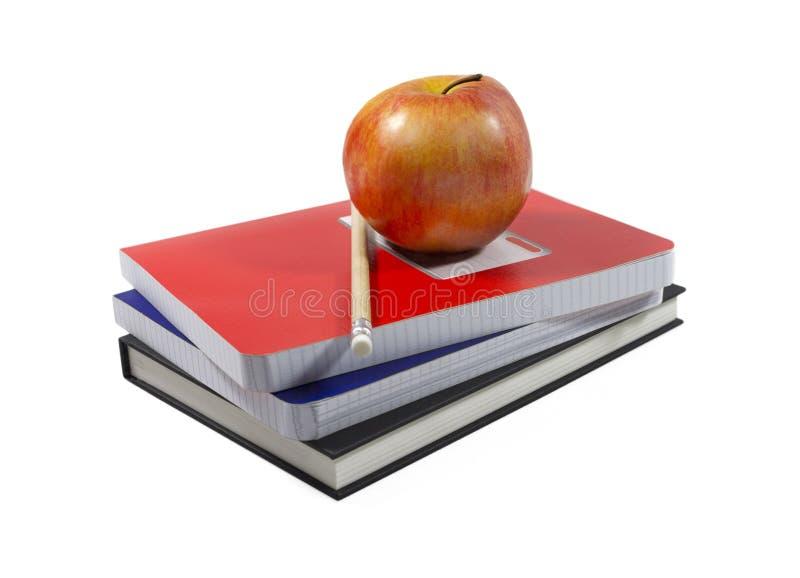 De hoofdzaak van Apple en van de school (met het knippen van weg) royalty-vrije stock fotografie