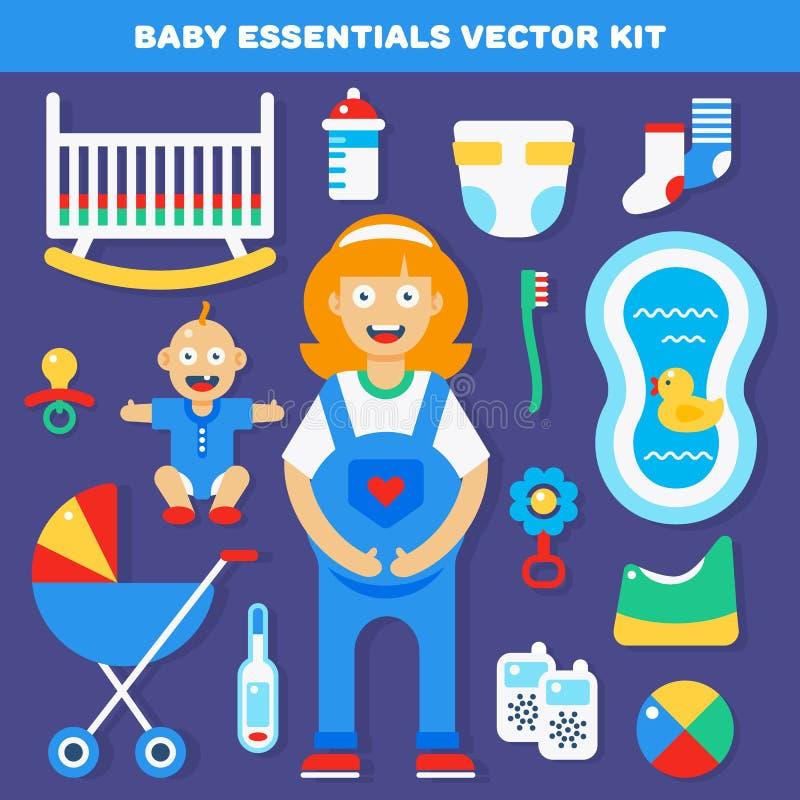 De hoofdzaak van het babytoestel stock illustratie