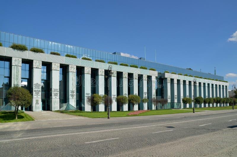 De Hooggerechtshofbouw in Warshau, Polen stock foto's