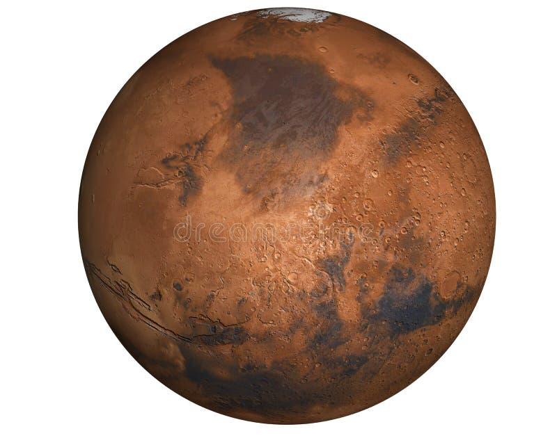 De hoogst gedetailleerde planeet van Mars stock foto's