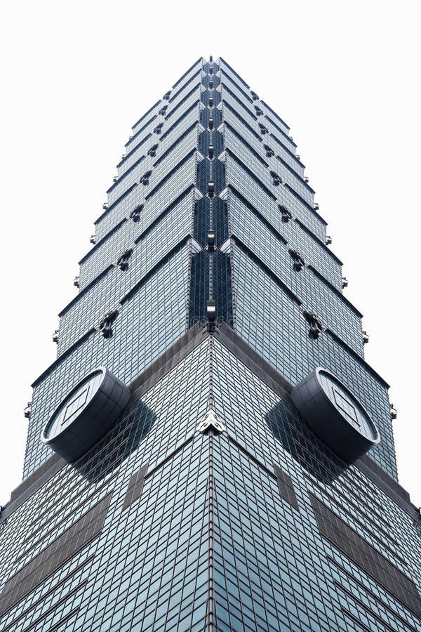 De hoogste gebouwen ontwerpen in de stad van Taipeh, Taiwan stock afbeelding