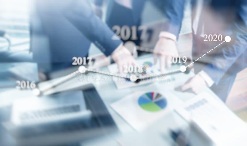 De hoogste Managersuitvoerende macht bespreekt Termijn van het Plan van de Bedrijfoptimalisering voor 2020 Het concept van het ni royalty-vrije stock fotografie