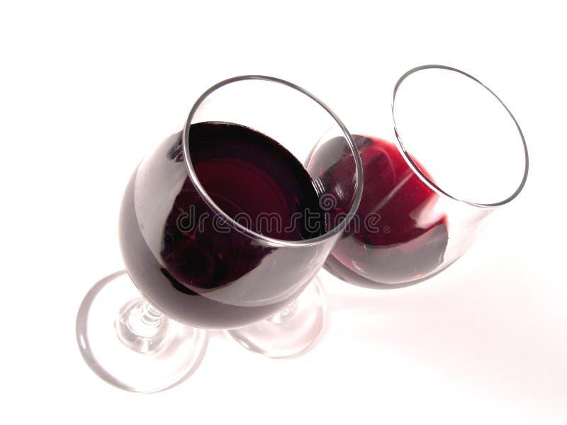 De Hoogste Mening van de Glazen van de wijn stock fotografie