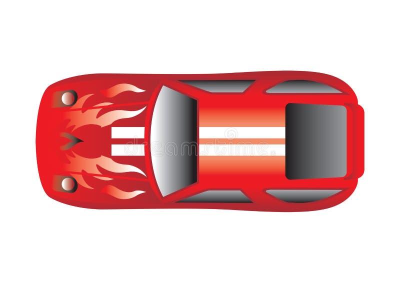 De Hoogste Mening van de sportwagen vector illustratie