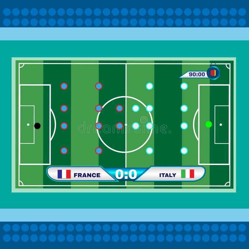De Hoogste Mening van Playfield van het voetbalvoetbal vector illustratie
