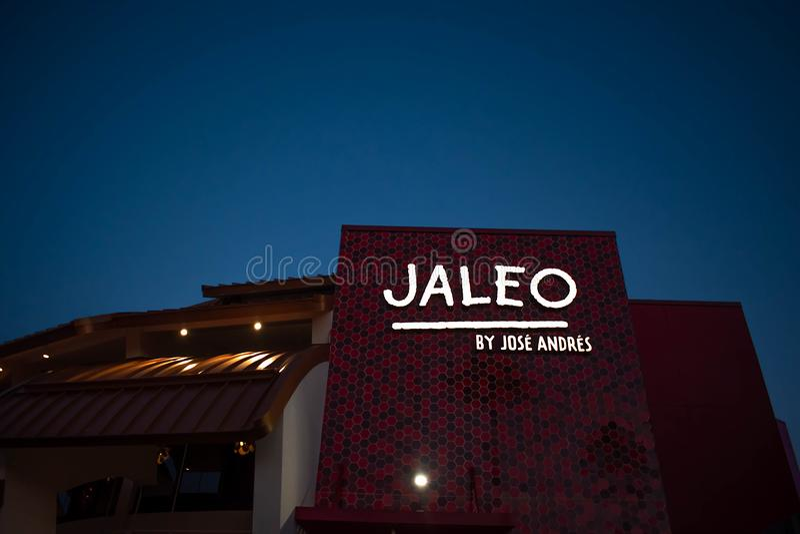 De hoogste mening van Spaans restaurant in Disney springt op het Uitzichtgebied van Meerbuena op royalty-vrije stock fotografie