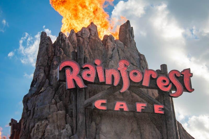 De hoogste mening van Vulkaan losbarstende brand in Disney springt bij Uitzicht 3 van Meerbuena op stock foto's