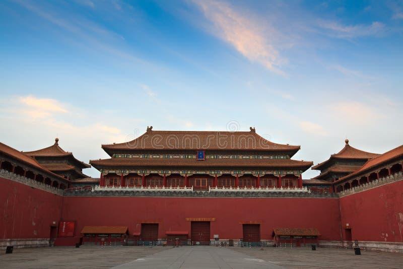 De hoogste Poort. Verboden Stad. Peking, China. royalty-vrije stock foto