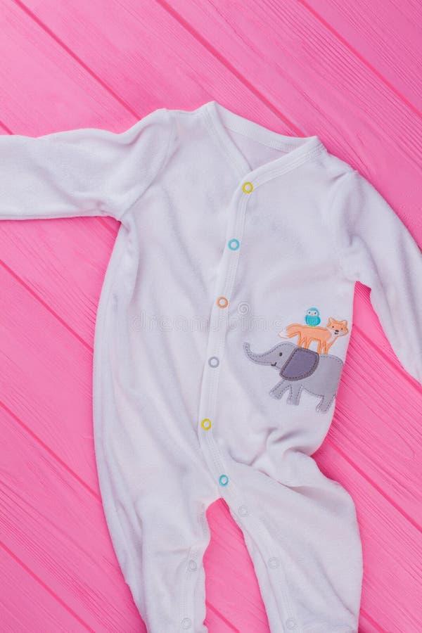 De hoogste pyjama's van de menings witte baby royalty-vrije stock foto's