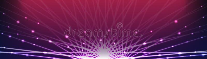 Download De Hoogste Ruimte Van Het Banner Lichteffect Vector Illustratie - Illustratie bestaande uit dynamisch, conceptueel: 54076966