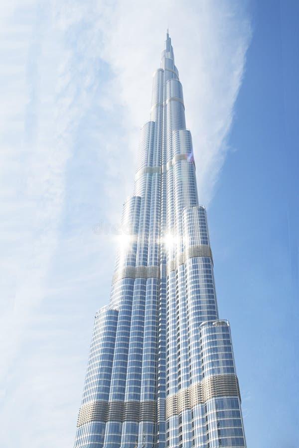 De hoogste toren van Burjkalifa Doubai de V.A.E in de wereld royalty-vrije illustratie