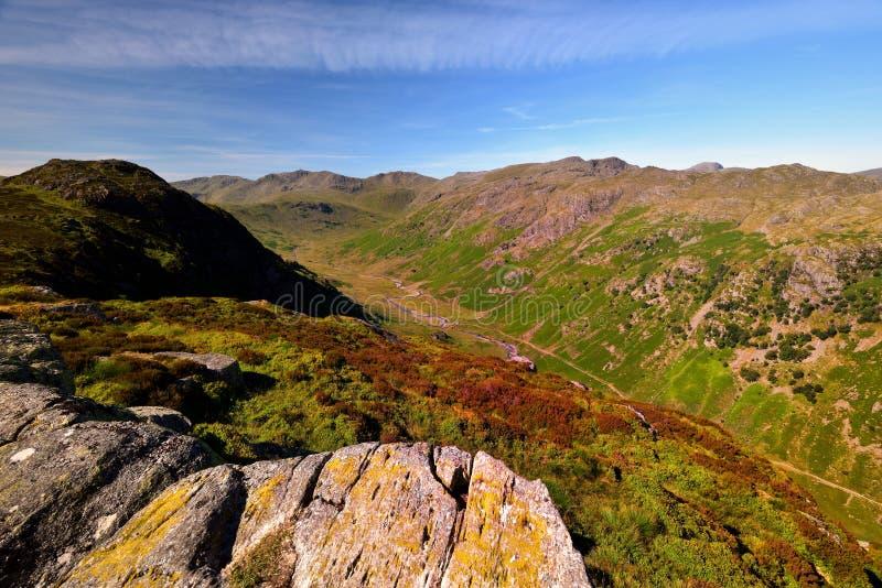 De hoogte fells van Eagle Crag royalty-vrije stock fotografie