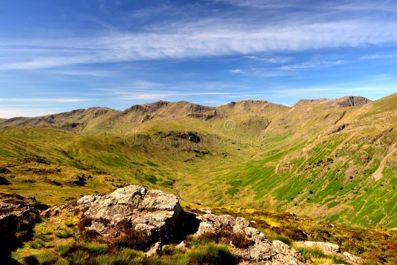 De hoogte fells van Eagle Crag stock foto