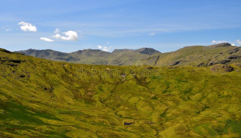 De hoogte fells van Eagle Crag royalty-vrije stock afbeelding