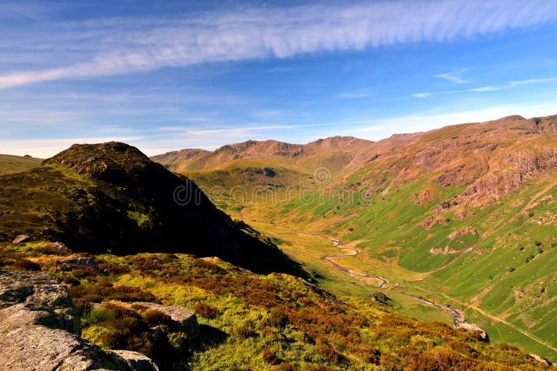 De hoogte fells van Eagle Crag royalty-vrije stock foto