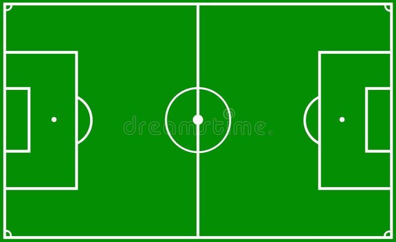 De hoogte van het voetbal royalty-vrije illustratie