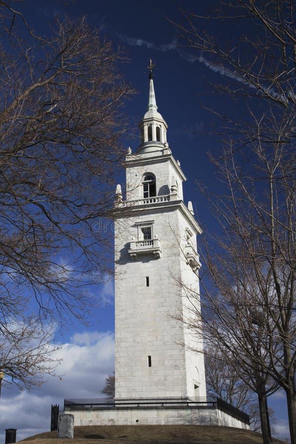 De Hoogten Herdenkingstoren van Dorchester in Thomas Park, Zuid-Boston Massachusetts, de V.S. stock fotografie